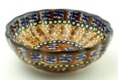 Polish Pottery Berry Bowl-Amber Butterfly