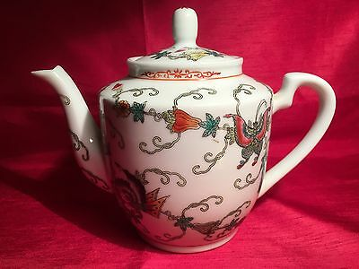 Vintage Chinese  Jingdezhen Butterfly Design Teapot