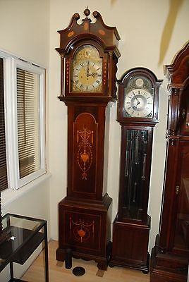 Antique Longcase Grandfather Musical Clock, Movement  For Restoration 8 Bells