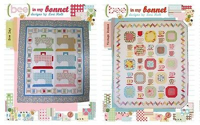 BUNDLE LORI HOLT Bee in my Bonnet Sewing Pattern: Sew Day + Vintage Dishes