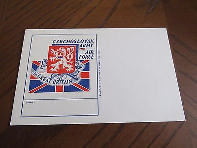 Postcard Czechoslovak Army And Air Force In Great Britain Unused Czechoslovakia