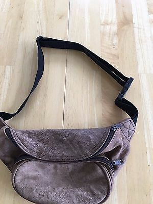 Leather Fanny Pack Adjustable Waist Bag Large Distressed Brown Hipster FREE SHIP