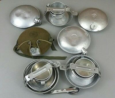 Lot of Vintage Boy Scouts of America BSA Canteens and Mess Kits