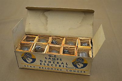Nos Antique Flathead Ford V8 Coupe Roadster Pickup G-E Headlamp Bulbs Box Of 10