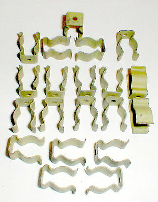 "20 Heavy Duty Steel Tool Terry Spring Clips - 1/2"" 12mm Coated New Old Stock"