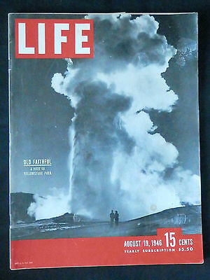LIFE Magazine August 19, 1946 RUSSIAN HEART EXPERIMENTS - WATER SKIERS - BROOKLY