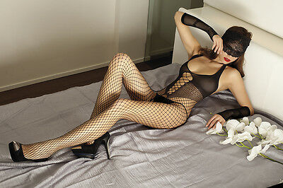 Trasparenze Patty Tutina Fishnet Bodystocking. Black 80% Polyamide 20% Elastane