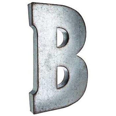 """Metal Letter 20"""" Silver Galvanized Vintage  & Marquee """"B"""""""