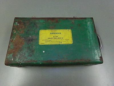 """Empty Greenlee 7306 Knockout Punch Set Box/Case For 1/2""""to 2"""" KO Good Condition"""