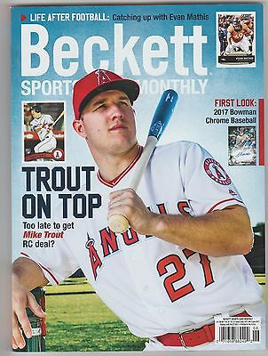 New Beckett Sports Card Monthly Price Guide Magazine, June 2017 ( Mike Trout )