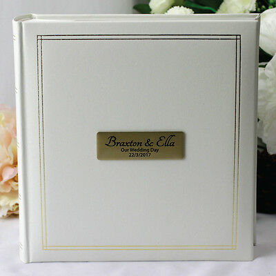 Personalised Wedding Album - Gold Plaque - Add a Name & Message