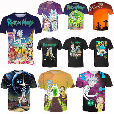 Newest Fashion Women/Mens Rick and Morty Funny 3D Print Casual T-Shirt S-5XL