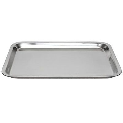 Square Nonstick Bakeware Oven Stainless Steel Baking Sheet Cooking Pan Tray US
