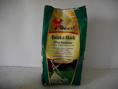 X-Seed Ultra Premium Quick and Thick Lawn Seed Mixture 3-Pound Grass Plant - New