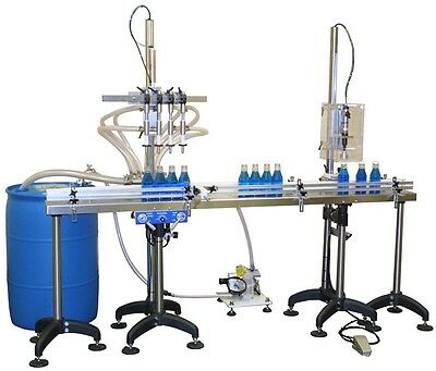 Brand New  - Inline Filling Systems 6-Head Overflow Juice Filler Semi-Auto