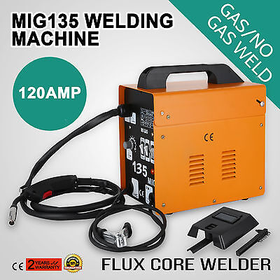 Mig135 Gasless Flux Core Welding Machine Gas-Protecting Welder Portable Inverter