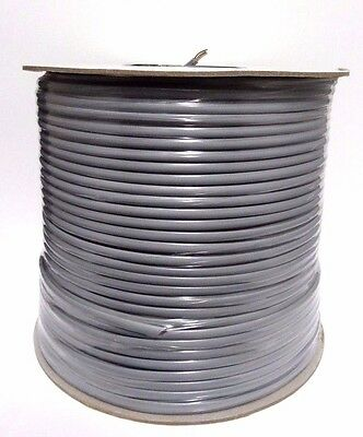 1000 Feet Spool 28 AWG 4C Flat Phone Cord Silver Satin ~ 791460