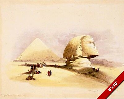 The Great Sphinx Of Giza Egypt Ancient Egyptian Painting Art Real Canvas Print