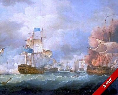 Battle Of Camperdown Painting French Revolutionary War Art Real CanvasPrint