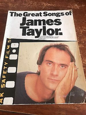 James Taylor -THE GREAT SONGS- Vintage Songbook Sheet Music