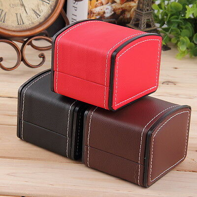 Luxury Watch Box Display Case Gift Box For Watch Jewelry Leather Watch Box  OB