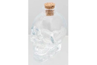12 skull head bottle cork stopper 9.5cm clear 100ml make your own hot sauce