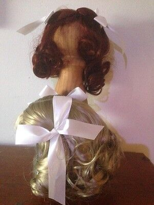 Doll Wig - #200 - Large 36cm. Quality Wavy Bow. Hard 2 Get