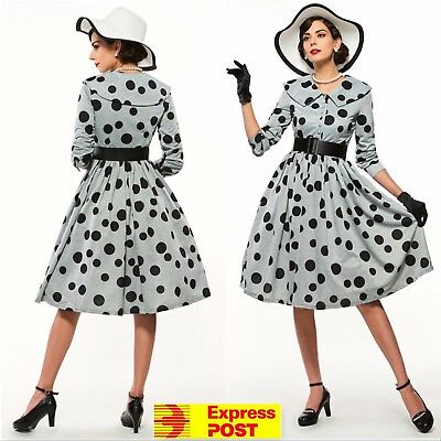 Women Vintage 50s 60s Rockabilly Swing Housewife Cocktail Party Dress Plus Size
