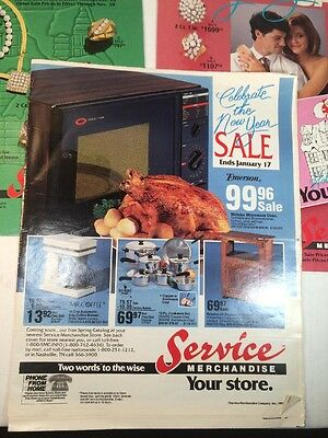 Vintage 1980's Service Merchandise Lot Of 3 Flyers Catalog Showroom Jewelry ++
