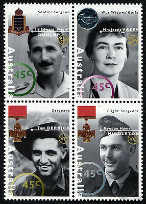 1995 WWII ANZAC Heroes SG1521/4 Block of 4 MUH Mint Stamps Australia