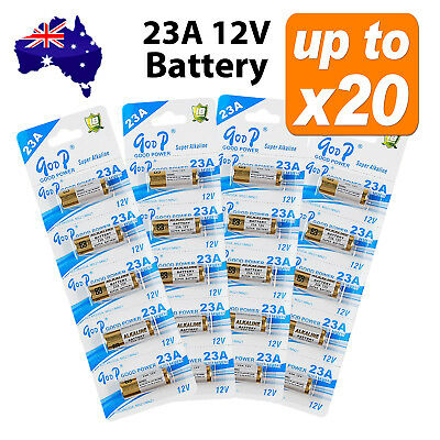 1x~20x 23A 21/23 A23 23A 23GA 12V Alkaline Battery for Garage Car Remote