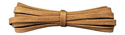 Flat Shoelaces - Waxed Cotton - 6 mm wide - Tan / Light Brown