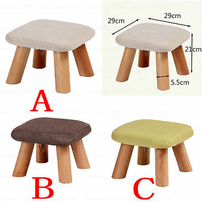 Kids Childrens Child Wooden Square Stool Chair Footstool Footrest Ottoman Pouffe