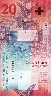 Switzerland 20 Francs 2017 P-New Unc