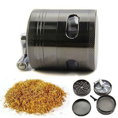 4 Part 60mm Mill Herb Grinder Tobacco Metal Weed Extra Storage Crusher Griner #9
