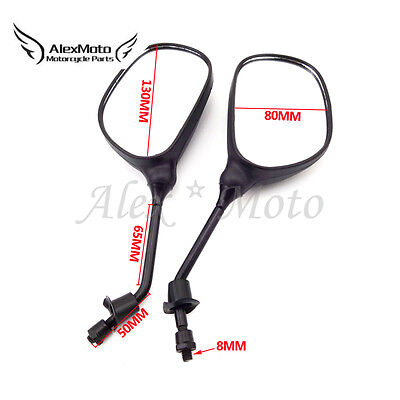 8mm Motorcycle Rearview Mirror For Gy6 50 125 150cc Moped Scooter Taotao Jonway