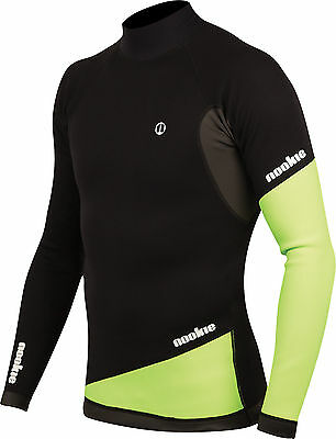Blk/Green-Nookie Ti Vest Long Sleeve-1mm Neo Top-Kayak/Surf/SUP/Wetsuit Jacket