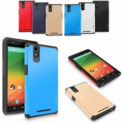 Hybrid Rugged Rubber Shockproof Protective Hard Case Cover For ZTE Phone Models