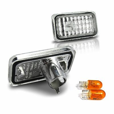 Set of 2 Crystal Clear Chrome Side Repeaters Turn Signal Indicators 80296 EAP
