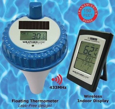 Wireless Swimming Pool Floating Solar Digital Thermometer - Spa Water Hot Tub