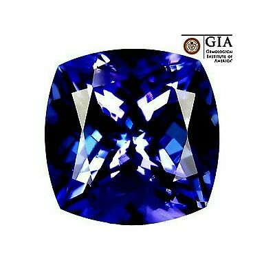 GIA Certified 8.65 ct Natural Rich Blue AAA+++ D- BLOCK  TANZANITE, watch video