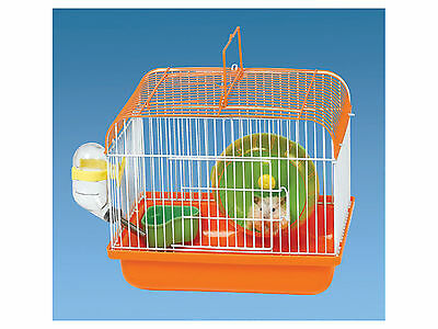 Small Mouse Hamster Cage Food & Drink Dispenser & Exercise Wheel