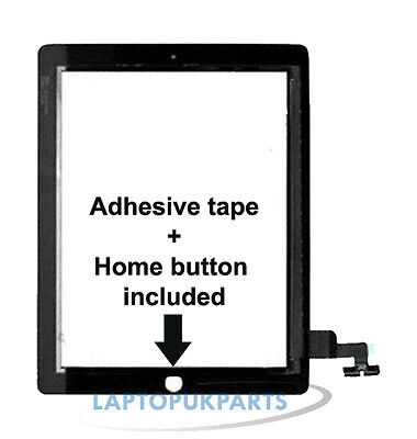 Apple Ipad EMC 2416 Replacement Touch Screen Glass Front Digitizer Panel Black