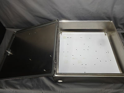 """HOFFMAN ENCLOSURE CSD20206SS 20""""x20""""x6"""" Stainless Steel Electric Panel w/ Plate"""