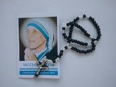 Corded Wooden Rosary (Black Beads)