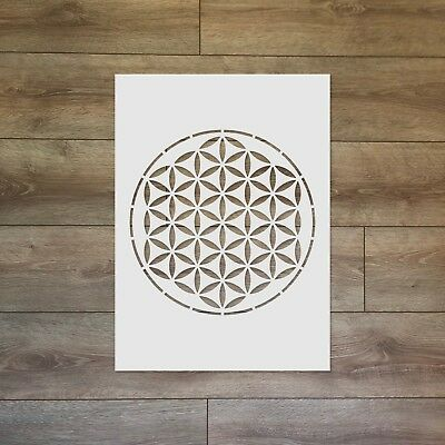 The Flower of Life Sacred Geometry Reusable Plastic Stencil