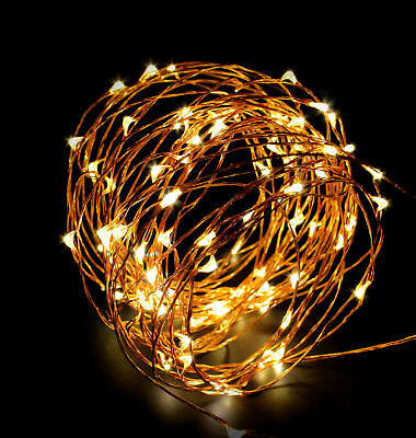 ABN Indoor String Fairy Rice Lights, Dimmable LED String Lights Decor 33 feet