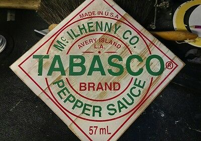 Custom Vintage Tabasco wooden sign