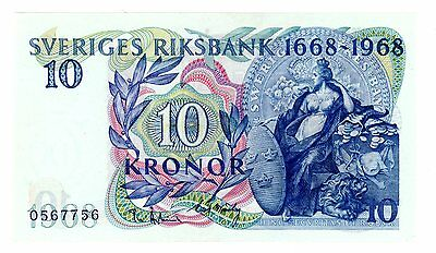 Sweden ... P-56a ... 10 Kronor ... 1968 ... CH*UNC*  Commemorative.