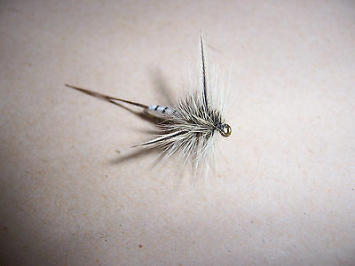 3 Dry Spent Mayfly trout fishing flies size 14 hooks - Salmoflies